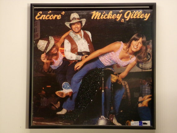 Glittered Record Album - Mickey Gilley - Encore