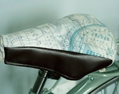 bicycle saddle case bike map sweet white blue