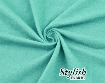 Aqua Cotton Lycra Jersey Knit Fabric Combed 7oz by the Yard Cotton Stretch Jersey Knit by the yard - 1 Yard Style 477