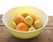 Large Yellow Vintage Pyrex Mixing Bowl