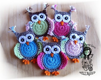 Crochet PATTERN, Applique, Jolly Owl, DIY Pattern 4