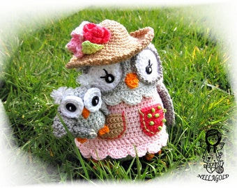 Crochet PATTERN, Collectors item  03 Owl Mom with Baby, Toy, Crochet amigurumi pattern, Home Decor, DIY Pattern 32