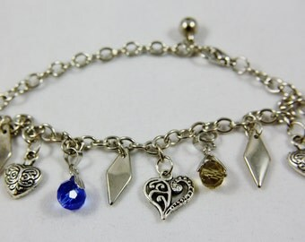 Multi Colored Charms Bracelet FREE SHIPPING USA