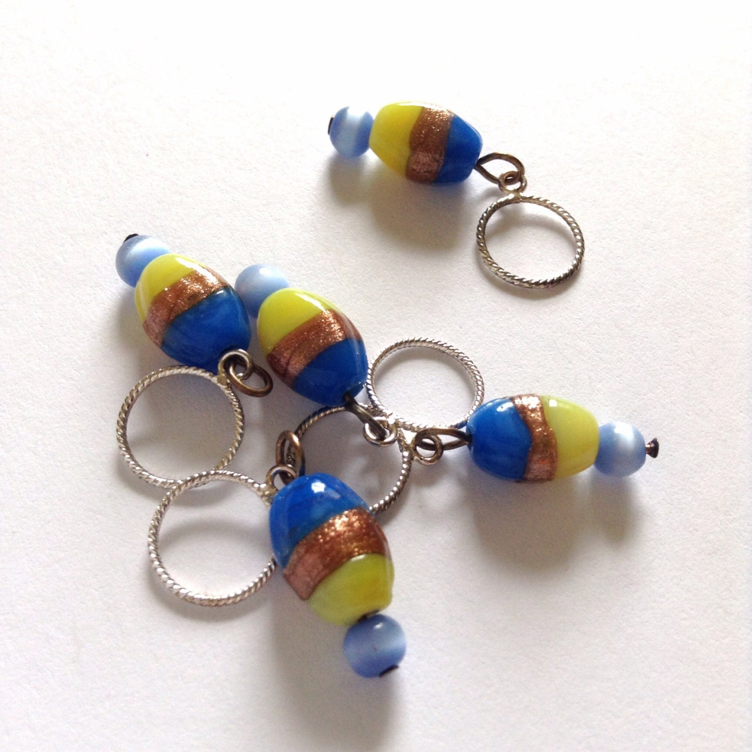 Using Stitch Markers In Lace Knitting : Knitting stitch markers in the colours of by AbsoKnittingLutely