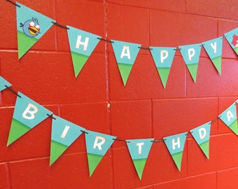 Angry Birds Birthday Banner - Angry Birds Birthday Party - DIY Printable