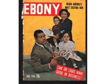 Vintage Magazine Cover, Ebony, June, 1949 , (Joe Louis) 077