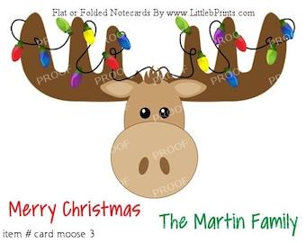 Moose christmas   Etsy