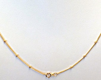 "5 Pcs - 16"" 14K, 14Kt Gold Filled Satellite Finished Chains 2mm Bead, wholesale gold filled chains-  GFCSL161(5)"