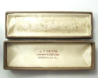 Antique Stickpin Box Somerville N.J. Vintage Jewelry Gift Box