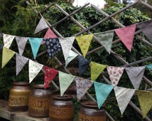 Sweetwater's Road 15 - handmade bunting, flags or banner for child's bedroom, garden, birthday in modern colors - LAST ONE