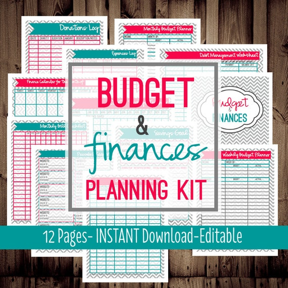 Printable Budget Planner-Family Budget Planner-Monthly Budget Planner ...