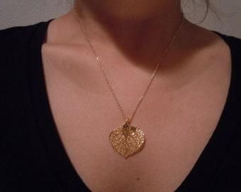 24 Karat Gold Leaf Necklace