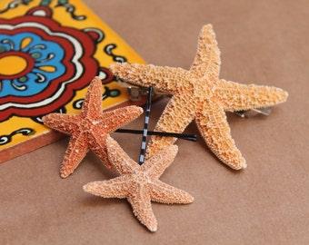 Baja Starfish Package, Starfish Hair Clip, starfish bobby pins, beach weddings, mermaid costume , nautical accessories