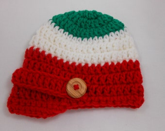 Italian Newborn Newsboy Hat
