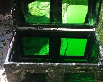 Upcycled Green Treasure Box