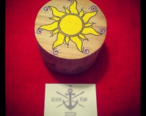 Hand Painted Tangled Inspired Tinket Box