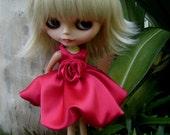 Balloon red skirt for Blythe doll