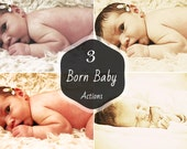 3 Born Baby Photography Actions Photoshop Actions Photography Editing Instant Download