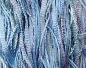 One Off, No.80 Sky Blue Pink, Hand Dyed, Cotton and Viscose Thread Selection