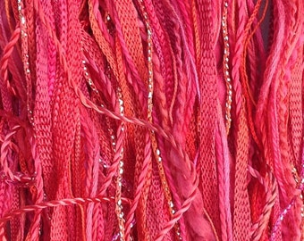 One Off, No.14 Christmas, Hand Dyed Cotton and Viscose Thread Selection