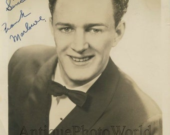Actor Frank Marlowe antique hand signed autographed photo