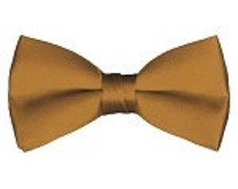 mens Bow tie (pre tied) copper custom made many colors