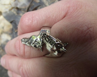 Equestrian jewelry horses ring  STERLING SILVER One size sizes 5 to 7 Zimmer design
