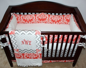 Custom Nursery Bedding Twins with Free Name Pillows