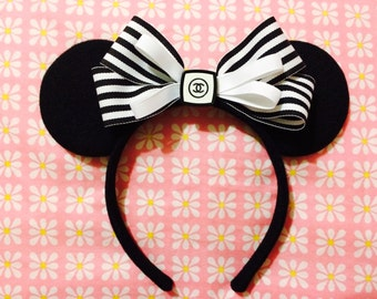 Minnie Mouse Chic High End Fashion Inspired Headband Ears