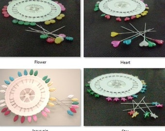 30pcs Assorted Colors Corsage & Decorative Pins - Star pins/Heart Pins/Flower Pins/Leaves Pins - Pick From Different Design
