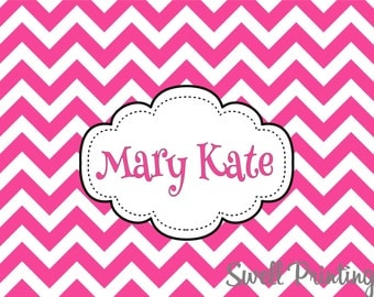 10 Personalized Chevron Pink Notecards Pink Chevron stationery