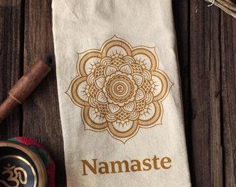 Namaste - Organic Cotton Floursack Tea Towel - Eco-Friendly
