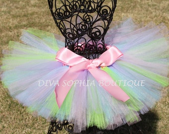 Light Pastel Colors Tutu for Newborn - Infants - Toddlers