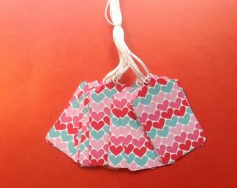 Super CLearance - 12 Die Cut Valentine Gift / Merchandise Tags ( 812)