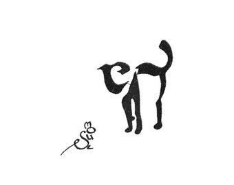 Cat and mouse typography