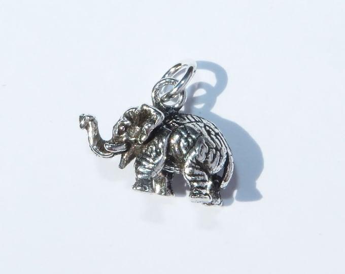 925 Genuine Silver Elephant Charm - 92.5% Sterling Bracelet Necklace Wedding Christening Bride Bridesmaid 21 16 Birthday Gift  18 Graduation