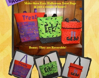 Easy Halloween Trick or Treat Bags-Instant Download
