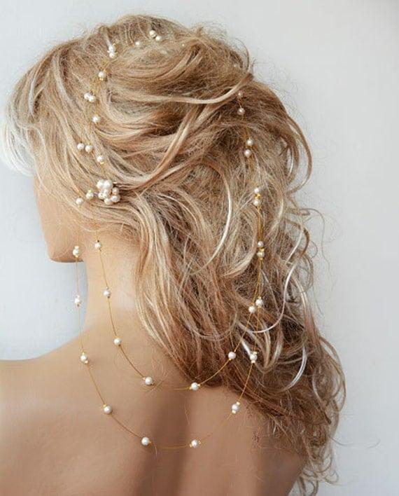 Headbands For Wedding Hairstyle: Wedding Pearl Headband Pearl Bridal Hair Wedding Hair