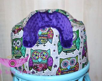 Purple Owl Pattern Bumbo Seat Cover