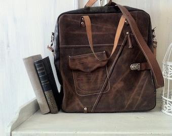 Angel Galileo Bag dark Brown, 15 inch laptop bag, office bag, school bag, student's bag, handmade bag, custom bag, leather bag