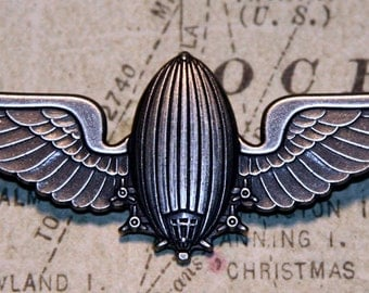 Airship Wing Pin - Nickle