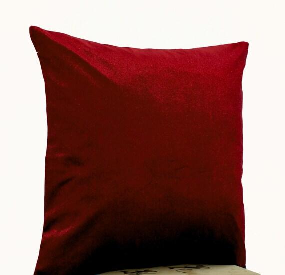 Lush red velvet oatmeal linen pillow Red pillows by AmoreBeaute