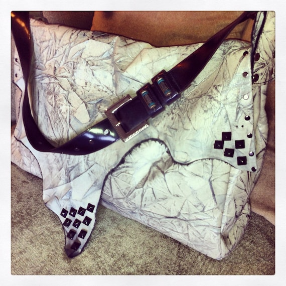 RESERVED- Mini Road Tripper Custom Leather Studded Tote
