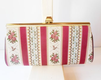 Tapestry Evening Bag, Vintage Purse, Tapestry Clutch Bag Colorful Clutch, Tapestry Handbag, Tapestry Purse  EB-0392