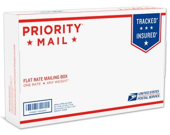 Upgrade Shipping to USPS Priority Small Flat Rate Box - B0122