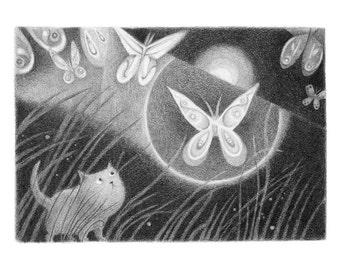 Moonlit Meadow - 5x7 print