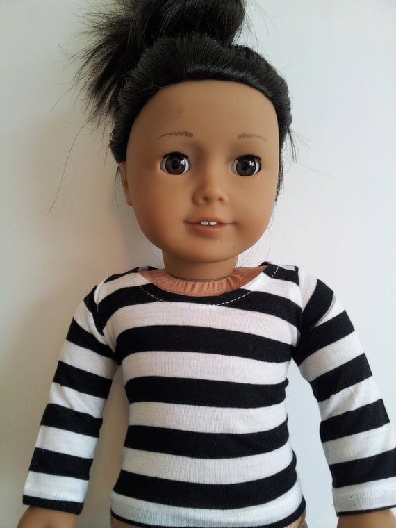 Knit T-shirt for American Girl and other 18 inch dolls