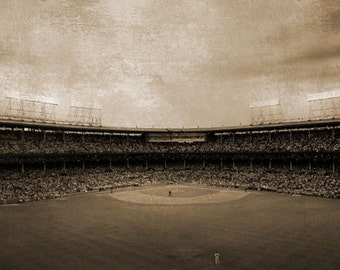 Wrigley Field Chicago Cubs Panorama - 9x40 in. - Wrigleyville - Chicago, IL - Wall Art - Wall Decor
