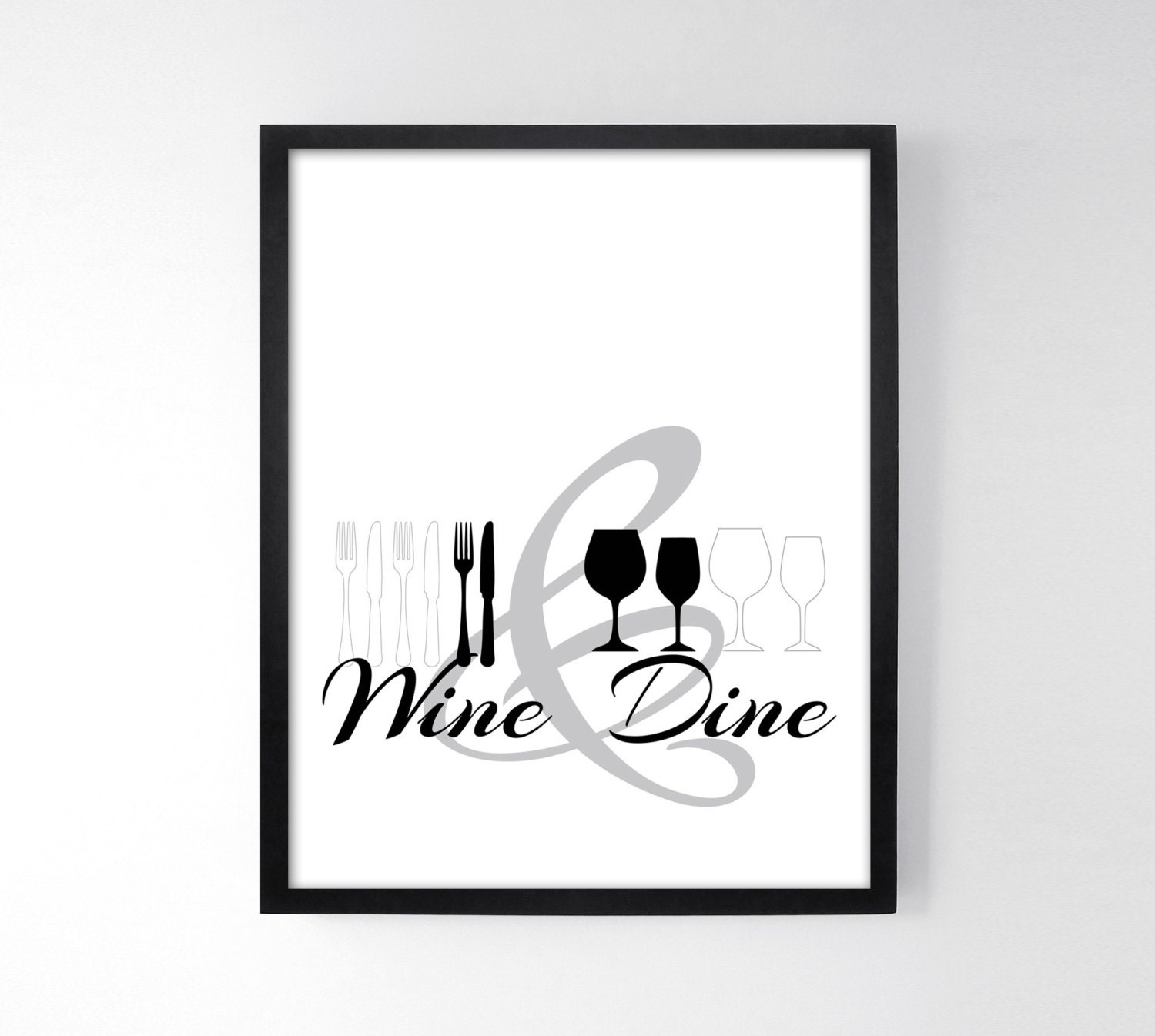Wine dine dining room wall art kitchen prints kitchen for Wine and dine wall art