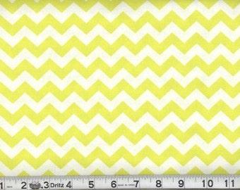 Yellow Chevron Fabric Yellow Chevron Cotton Half Inch Chevron Yard
